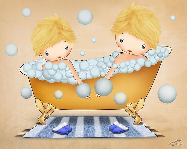 Amazon.com: Boys Bathroom Wall Art Bath Decor Kids Posters Baby ...
