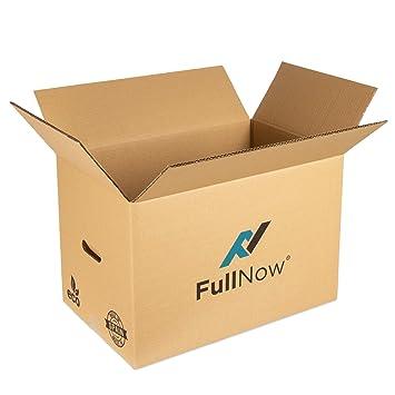 Pack 10 Cajas Cartón Grandes con Asas para Mudanza y Almacenaje Ultraresistentes - 550x350x380 mm - DISPONIBLE VARIOS TAMAÑOS - Fabricadas en España - ...