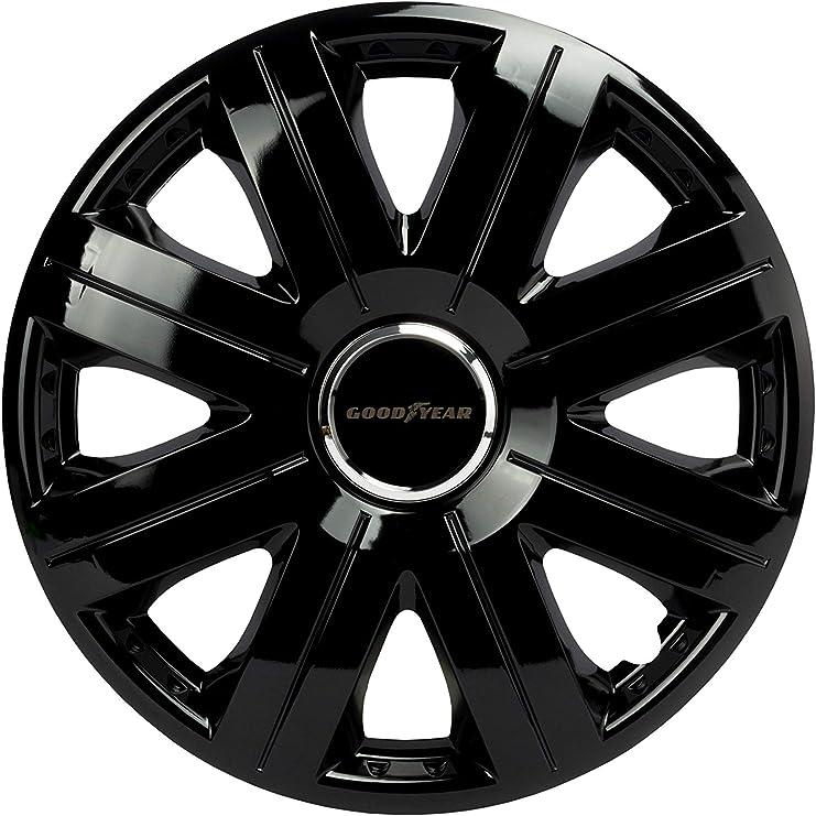4x premium Design tapacubos radzierblenden cubierta agat 14 pulgadas negro mate