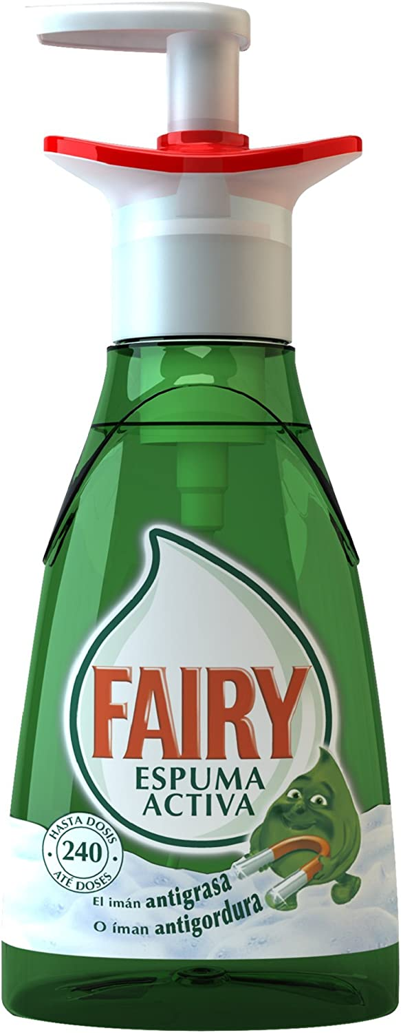 Fairy Espuma Activa - Lavavajillas, pack de 3x 375 ml (Total 1125 ...
