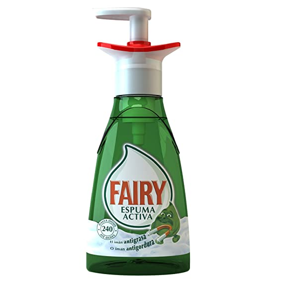 Fairy Espuma Activa - Lavavajillas, 375 ml: Amazon.es: Salud y ...