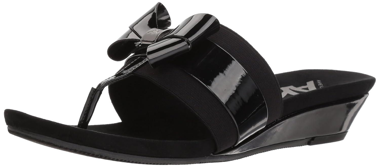 Anne Klein Women's Impeccable Slide Sandal B0789QZ41B 8.5 W US Black Synthetic
