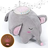 Baby Sleep Soothers, Momcozy Baby White Noise Machine, Auto-Off Timer and Volume Control Night Light Soother, 15 Lullabies Sound Machine for Newborns and Up (Elephant)