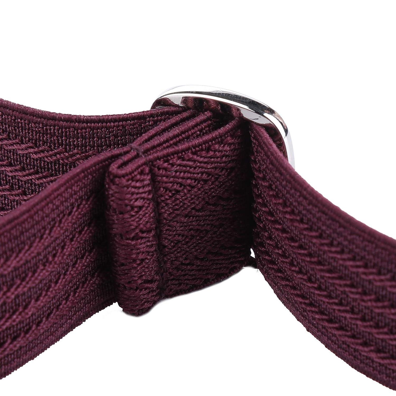 Navy Blue Ripple Kids Toddler Belt Elastic Adjustable Stretch for Boys Girls Belts with Easy Zinc Alloy Buckle by WELROG