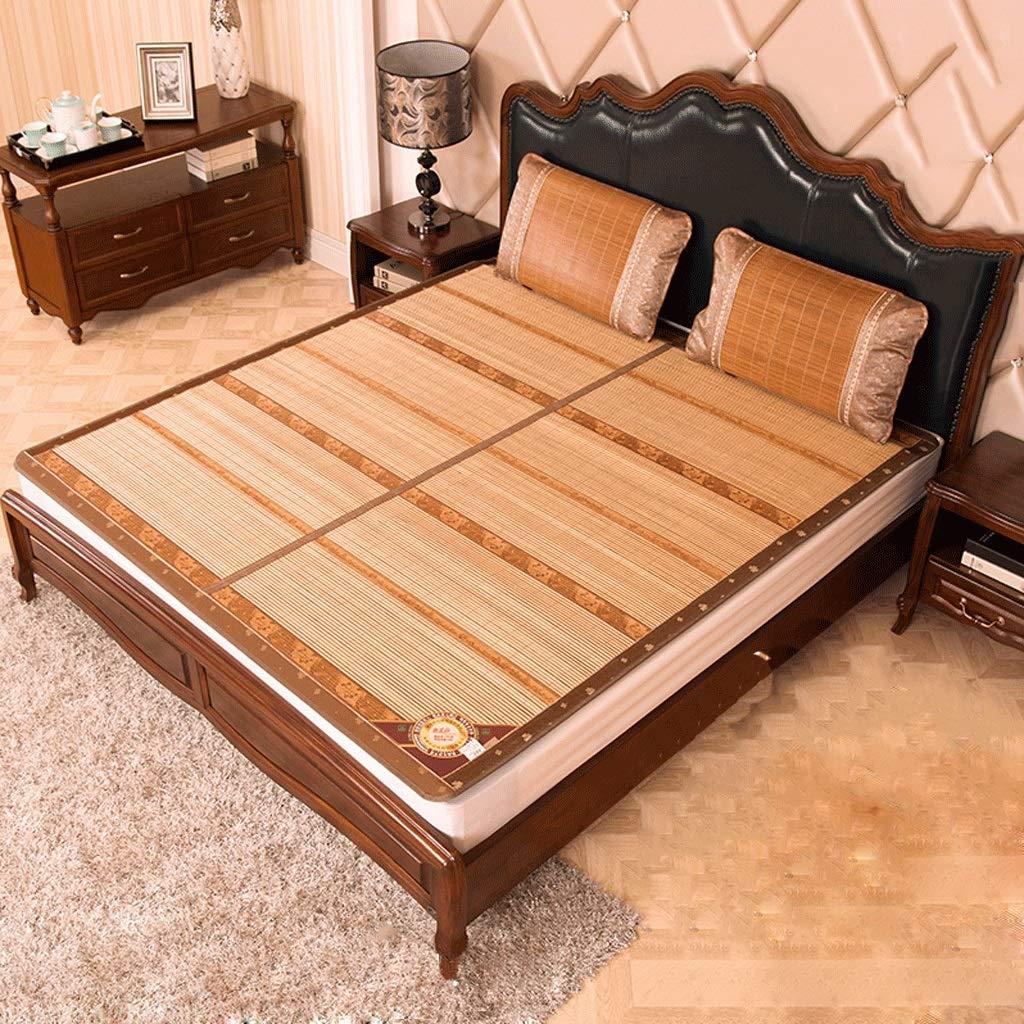 DUAN GUO FENG DGF Bambusmatte doppelseitiger Auflage-faltender Schlafsaal-Einzelne Bambusmatte-Hohe Temperatur Carbon Keine Farbe