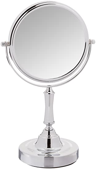 Tabletop 5X Magnifying Vanity Mirror With Brushed Stainless Finish by  Finishing Touches. Amazon com  Tabletop 5X Magnifying Vanity Mirror With Brushed