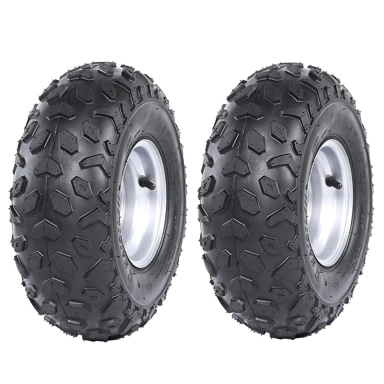 Tubeless tire for Go Kart UTV Quad Bike ZXTDR ATV Tires 145//70-6 Wheels with Rims