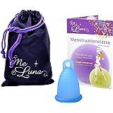 Me Luna Menstruationstasse Classic, Ring, Blau, Größe S