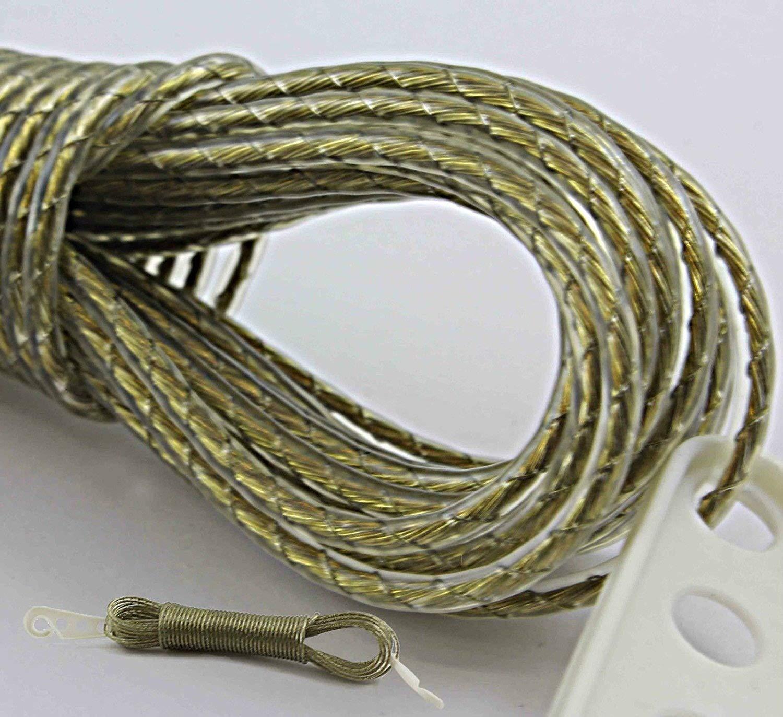 solide 20m Corde à linge Corde à linge Fil d'acier Cœur en métal Jardin Camping Cordon bmonline