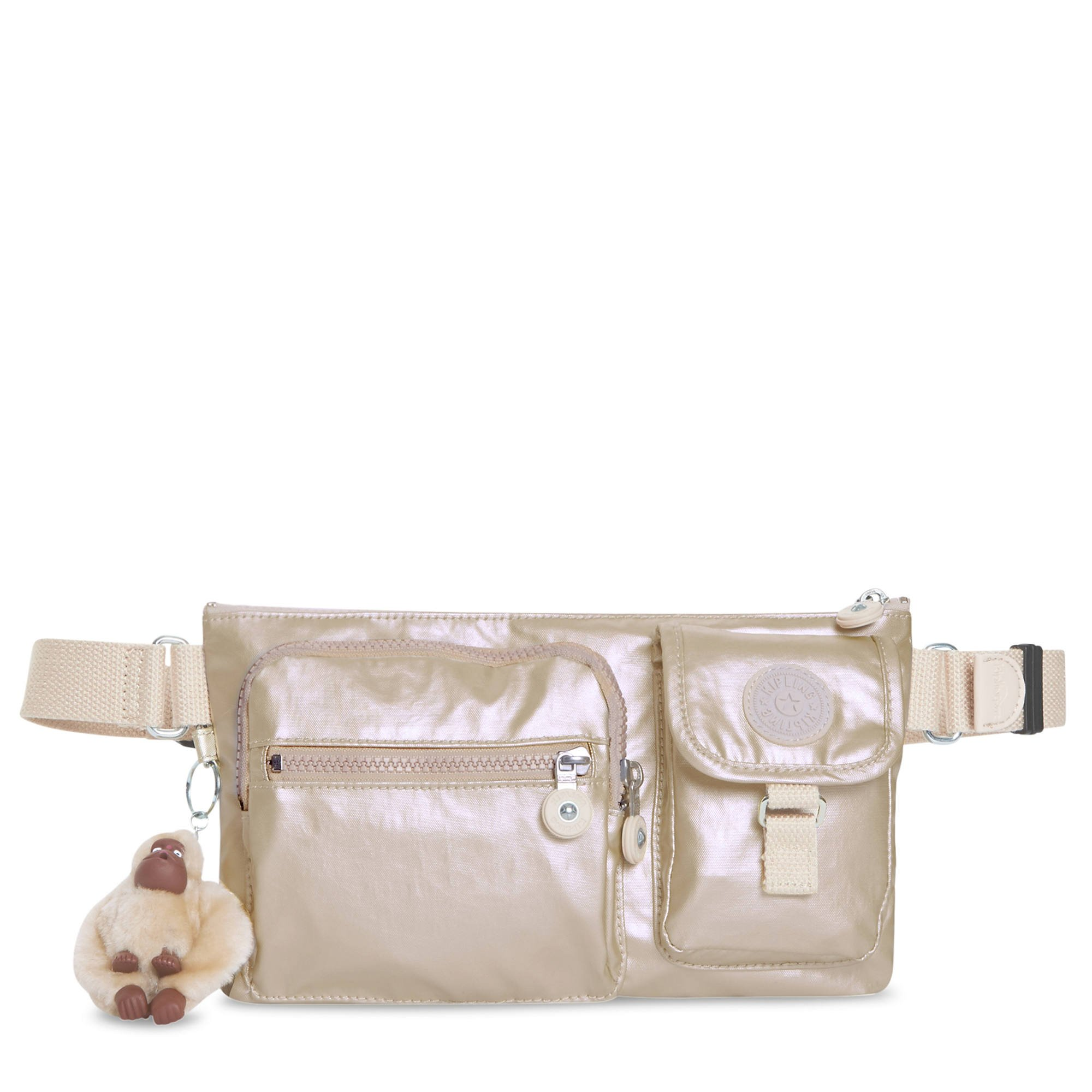 Kipling Presto Sparkly Gold Convertible Crossbody Bag, Sparklygld