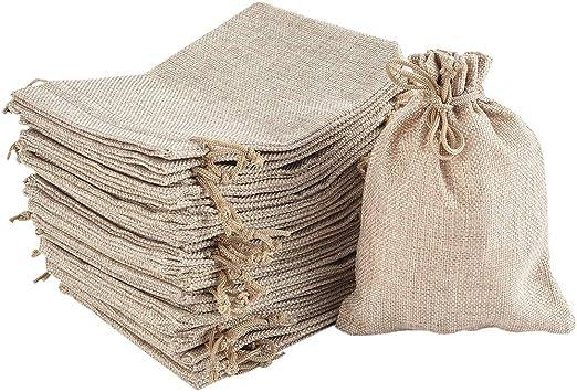 Homclo - 30 Bolsas de algodón con cordón, pequeñas Bolsas de Tela ...