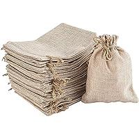 30 Pack Burlap Bags with Drawstring Resusable Jute Gift Bags