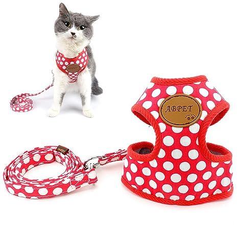 Zunea arnes Gato Nylon Soft Mesh Transpirable para Mascotas Cachorro pequeño Perro Gato Chaleco arnés y