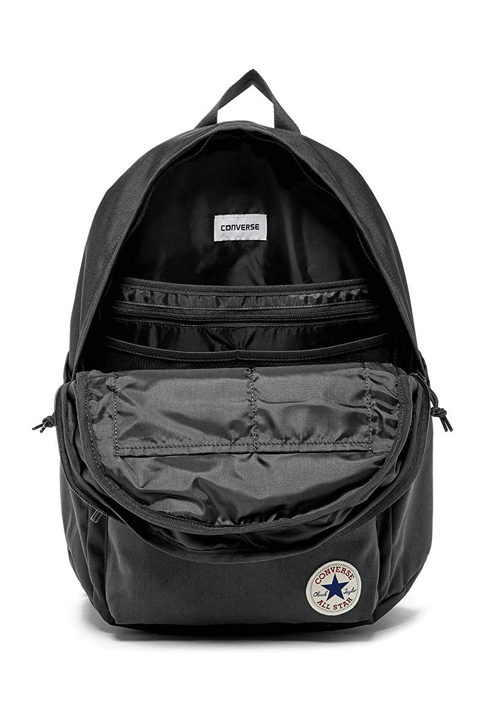 Amazon.com  Converse Mens Chuck Plus 1.0 Poly Laptop Backpack 10003335-A01  - Black  Universale Online ed26ee065bfa1