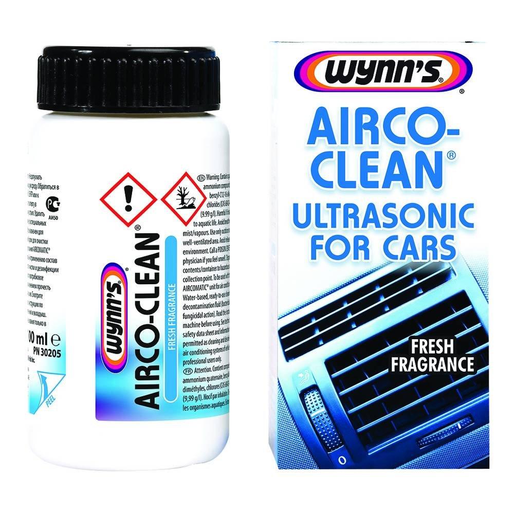 Wynns 1831077 30205 Airco-Clean Ultrasonic 100ml, White Wynn' s