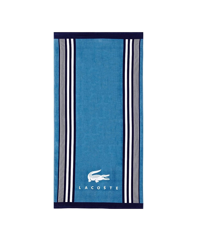Cotton Blue Lacoste Beach Towel