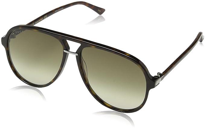 Gucci GG0015S gafas de sol, Avana-Brown, 58 para Hombre ...