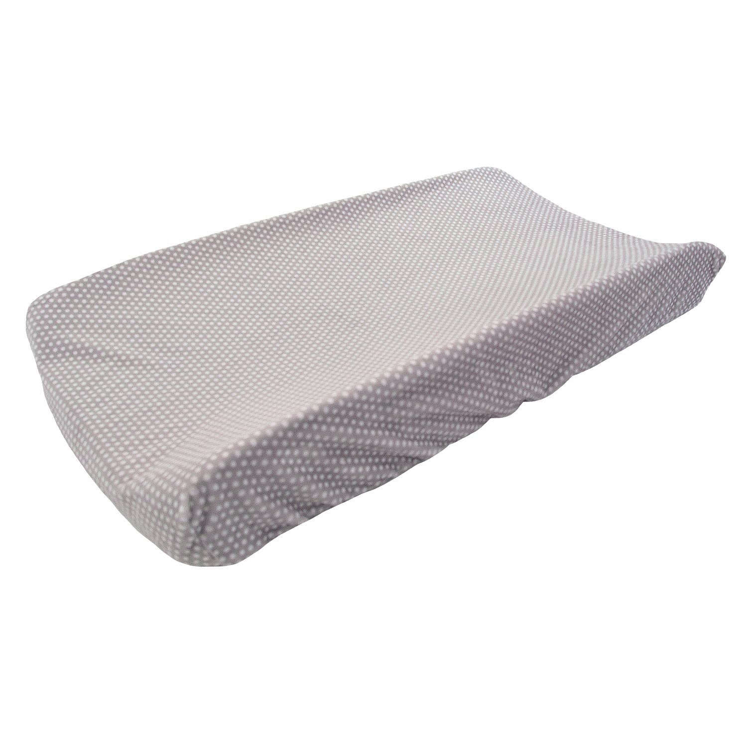 My Blankee Swiss Dot Minky Changing Pad Cover, Silver, 16'' x 32''