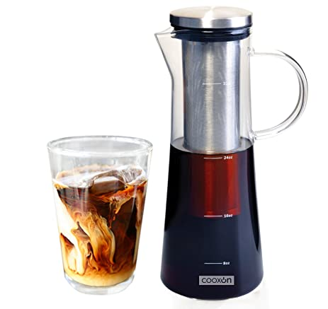 cold brew coffee maker and tea infuser by cooxon carafe from glass premium
