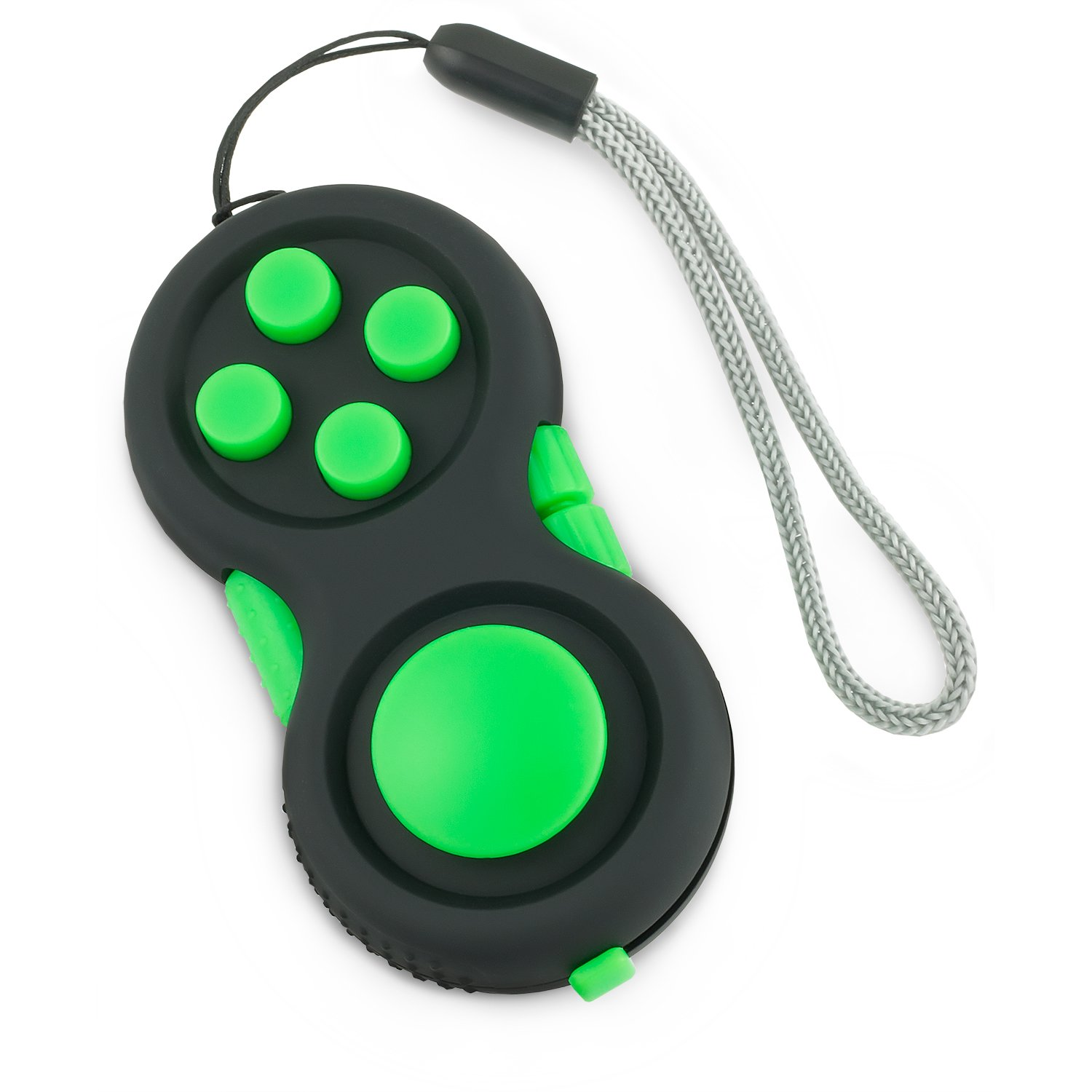 Steven G Premium Fidget Toy Pad Anxiety Sensory Hand Widget Prime with 8 Focus and Stress Relief Tools Used by Children, Teens and Adults, Green