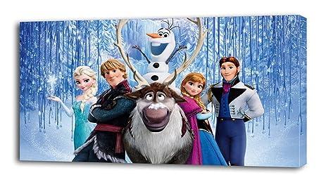 FROZEN Disney Princess CANVAS PRINT Home Wall Decor Art Giclee Kids Elsa Anna P042 Large