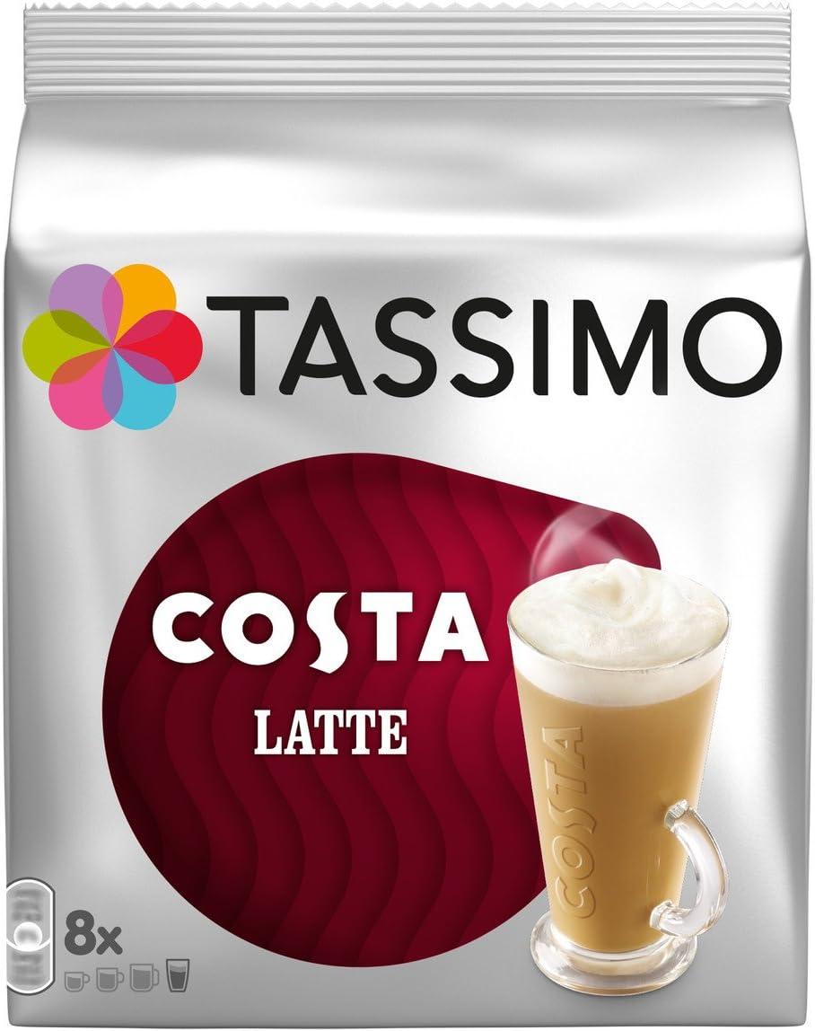 Tassimo - 3 paquetes de café latte Costa con un total de 48 ...