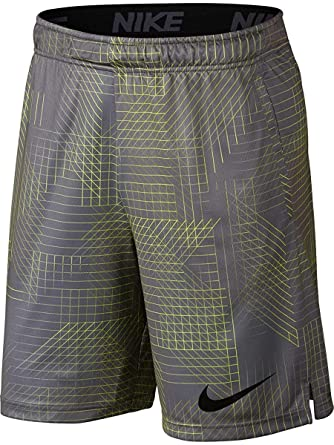 94fad873e Nike Mens Dry Dri-Fit Printed Training Shorts w/Pockets Grey/Volt at ...