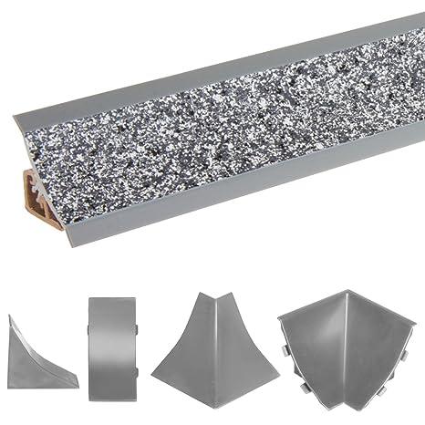 HOLZBRINK Acabado de Copete de Encimera Granito Oscuro Listón de Acabado PVC Copete de Encimeras de