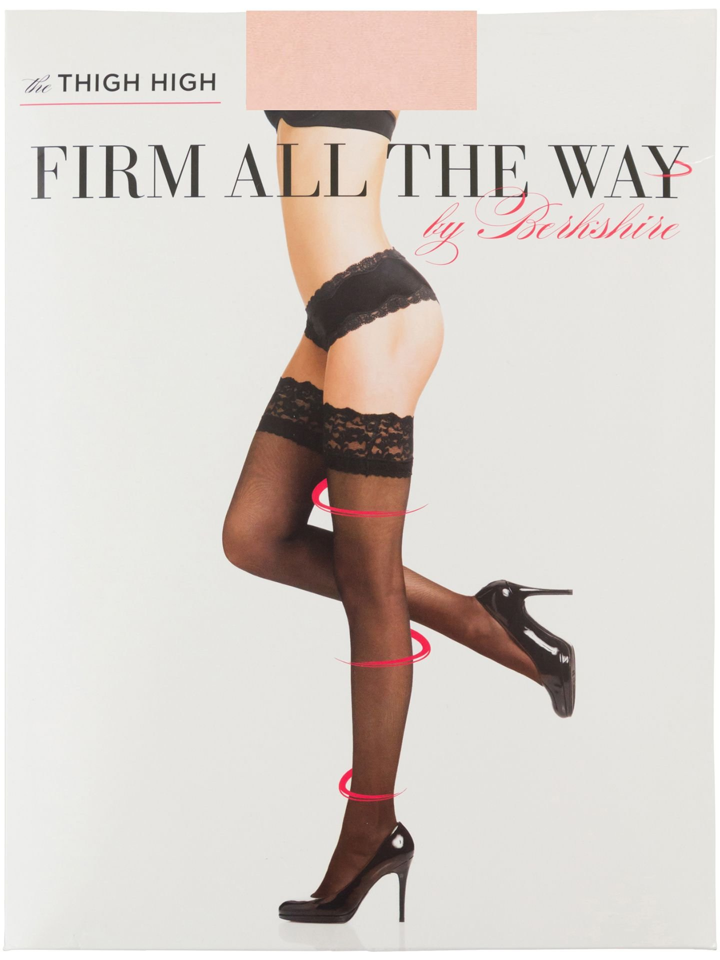Berkshire Firm All The Way The Thigh Highs, Bisque, Small