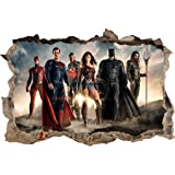 Justice League Wonder Woman 3D Smashed Wall Sticker Decal Decor Art Mural J927, Giant