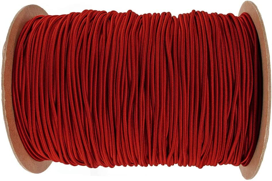 Tie Downs Moisture Weather Resistant 100/% Stretch UV Paracord Planet Shock Cord Indoor and Outdoor Marine Grade Bungee Recreation DIY Projects Black, 3//16 Inch X 25 Feet