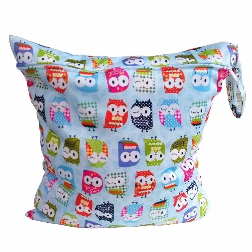 One-Zipper Baby Waterproof Zipper Bag Washable Reusable Baby Cloth Diaper Bag Generic