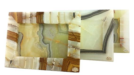 Portaretrato de Ónix Color Verde en Forma de Rectángulo Horizontal 23 x 18 cm: Amazon.es: Hogar