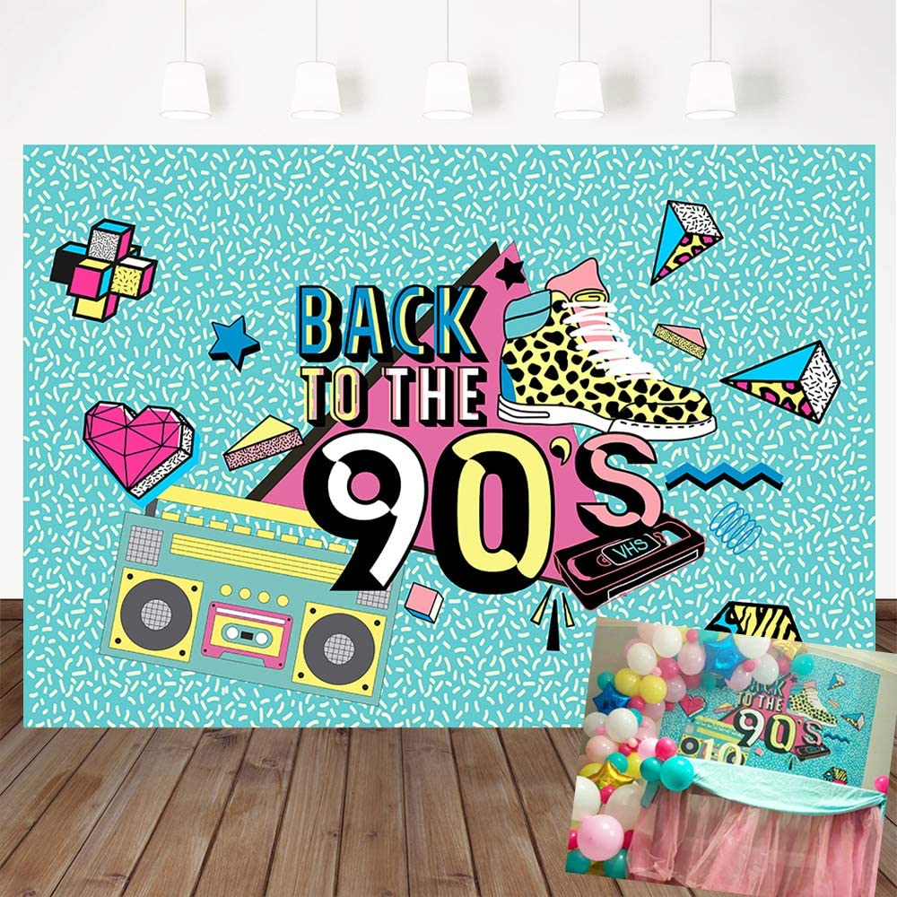 Amazon Com Mehofoto 90 S Backdrop Graffiti Retro Radio Fashion Shoes Photography Background 7x5ft Vinyl Hip Hop 90th Themed Party Banner Decoration Backdrops Camera Photo