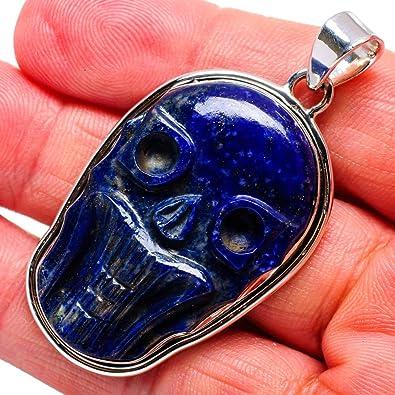 - Handmade Jewelry Vintage PD679124 Ana Silver Co Lapis Lazuli Skull Pendant 1 3//4 Bohemian 925 Sterling Silver