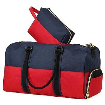 f54e4e1b52 Canvas Duffle Bag with Shoe Compartment