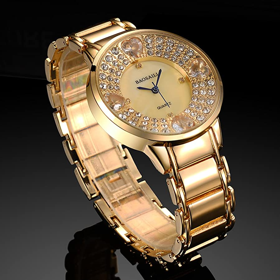 Amazon.com: BSL1036 BAOSAILI Heart Imitation Diamond Stone Shining Women Luxury Design Wrist Watch: Watches