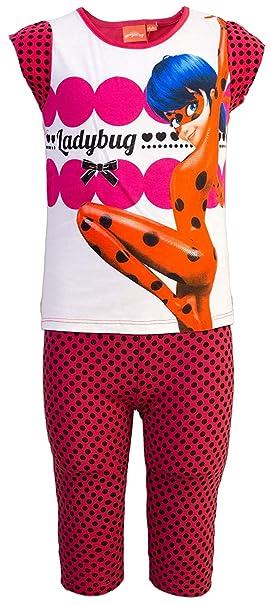 Miraculous - Pijama - para niña Rojo 4 años