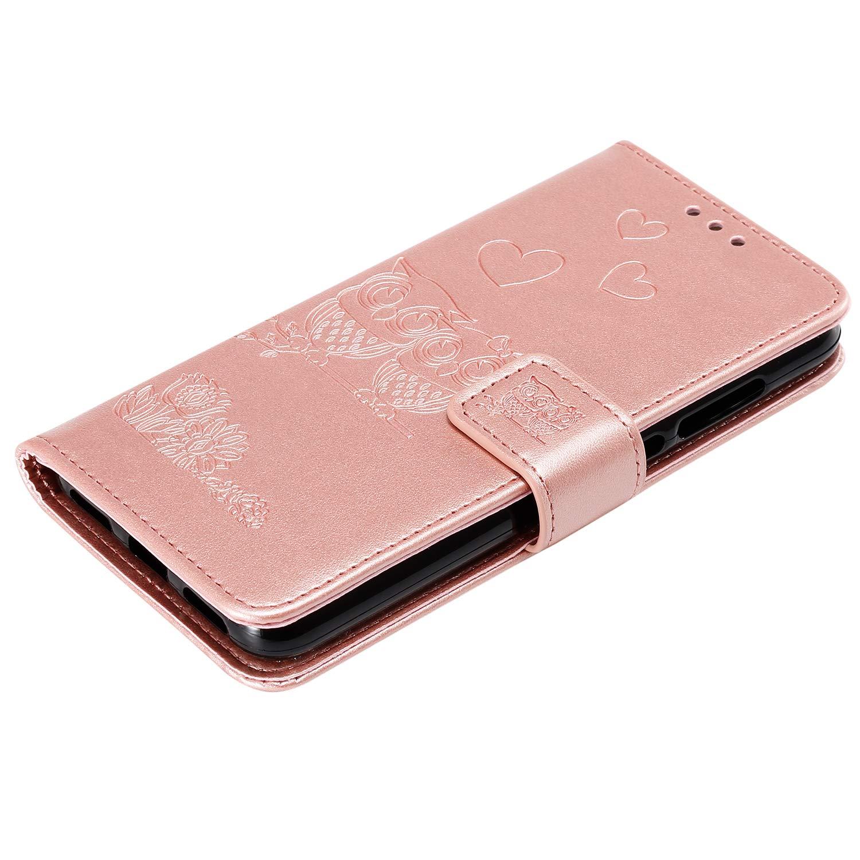 2017 Flip Case Schutzh/ülle H/ülle mit Standfunktion Kartenfach Magnet Brieftasche f/ür Huawei P8Lite Docrax Handyh/ülle Lederh/ülle f/ür - DOHHA100572 Violett Huawei P8 Lite 2017