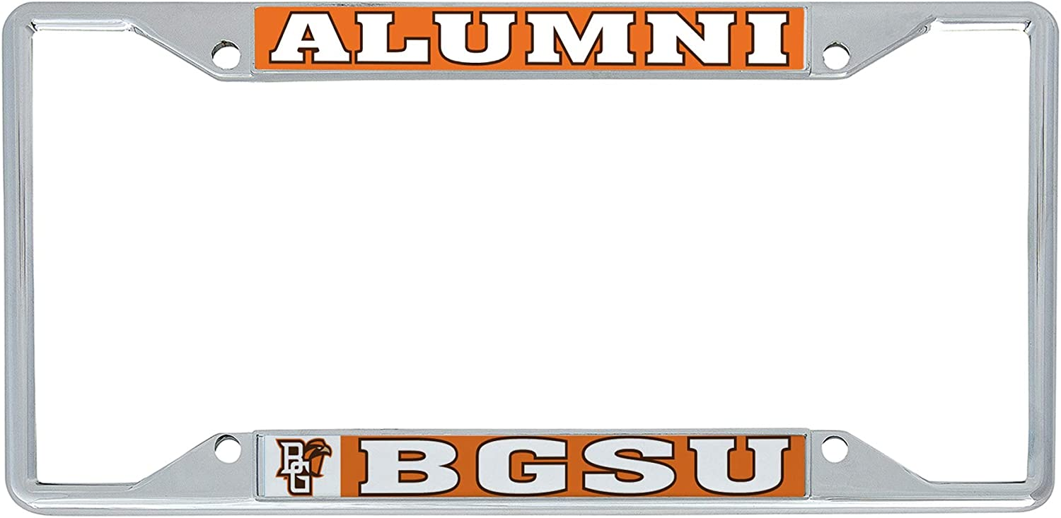 Desert Cactus Bowling Green State University BGSU Falcons NCAA Metal License Plate Frame for Front Back of Car Officially Licensed Alumni