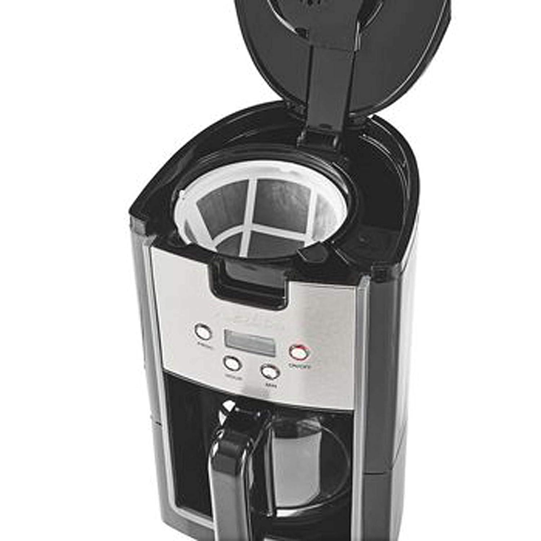 inklusive Dauerfilter Kaffeemaschine mit Glaskanne und Timerfunktion kompakte Bauweise 1 Liter Fassungsvolumen f/ür bis zu 12 Tassen Kaffee