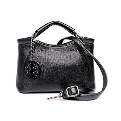 896d5376b9 Buy Cyanb Small Women Leather Top Handle Satchel Handbags Tote Purse  Shoulder Bag for Ladies Girl Black Online at Low Prices in India - Amazon.in