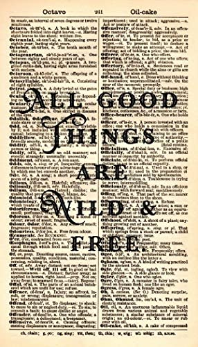 Amazon All Good Things Are Wild & Free Quote Artwork