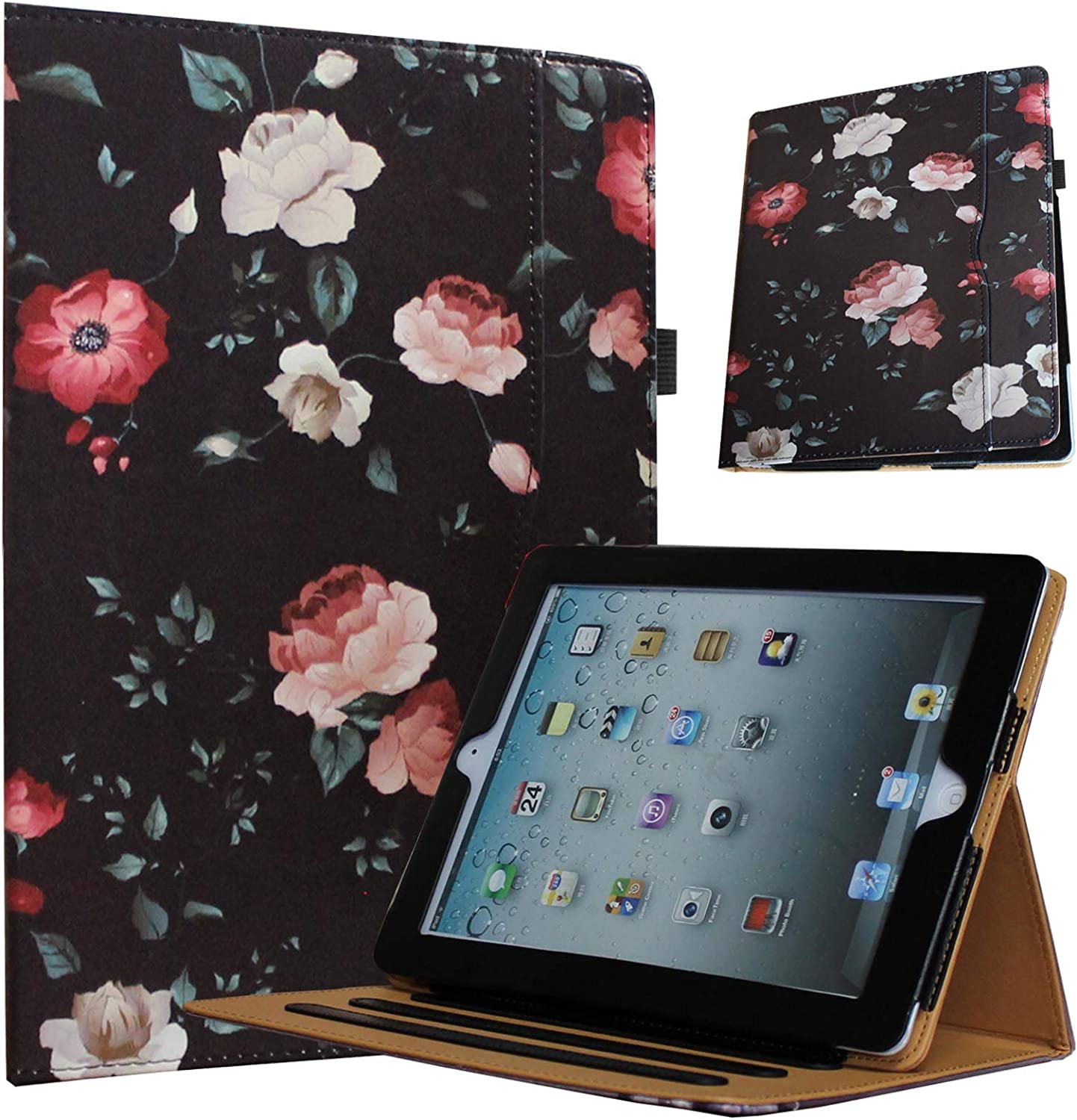 JYtrend Case for 2019 iPad Air 3 (10.5-inch)/2017 iPad pro 10.5, Multi-Angle Viewing Stand Folio Smart Cover with Pocket Auto Wake Up/Sleep for A2152 A2153 A2123 A2154 A1701 A1709