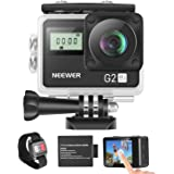 Neewer G2 4K WiFi Sports Action Camera with Touch Screen Ultra HD Waterproof DV Camcorder 12MP 4K/30FPS EIS 170 Degree…