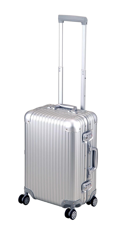 キャプテンスタッグ(CAPTAIN STAG) スーツケース キャリーバッグ アルミ製 TSAロック付き シルバー ロード B07D11BBG6 Mサイズ
