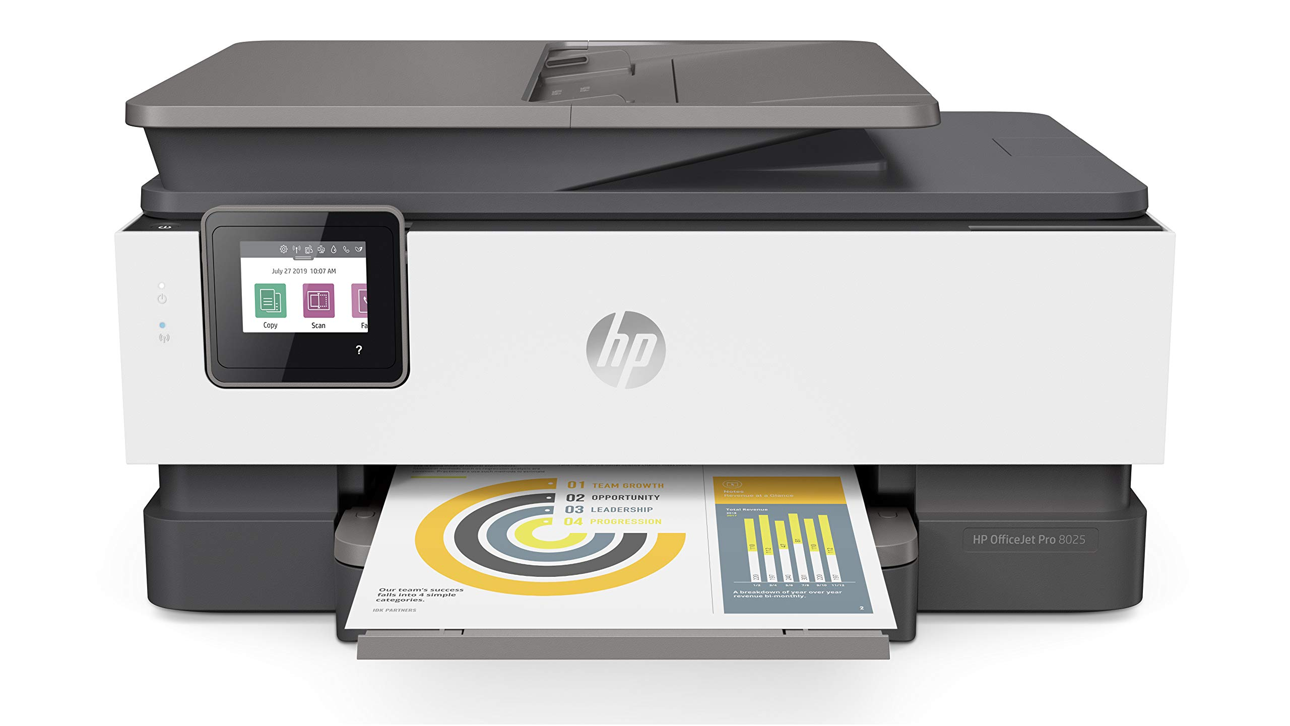 HP OfficeJet Pro 8025 All-in-One Wireless Printer, with Smart Tasks for Home Office Productivity, Instant Ink & Amazon Dash Replenishment Ready (1KR57A) by HP
