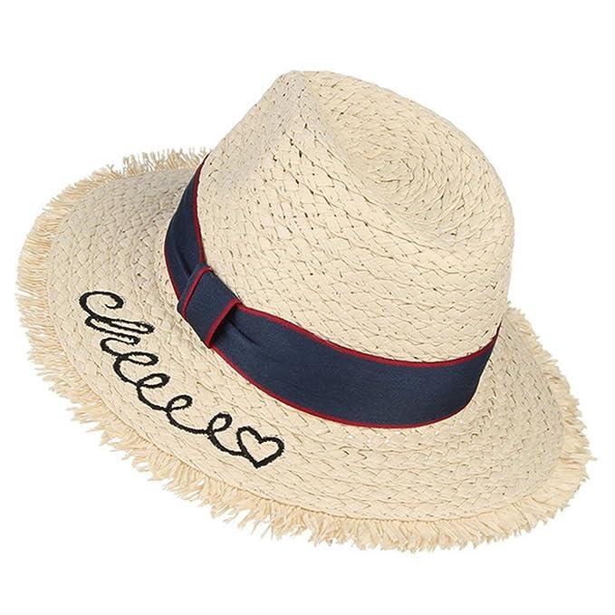 69c458286de7 August Jim Sombreros de Paja de Verano para niños, Sombrero de Sol ...