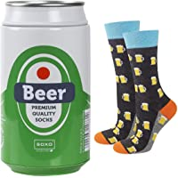 soxo Calcetines de Hombre Regalo Divertido en Lata Metálica de Cerveza | talla 41-45 EU | Divertido Regalo con Dibujos…