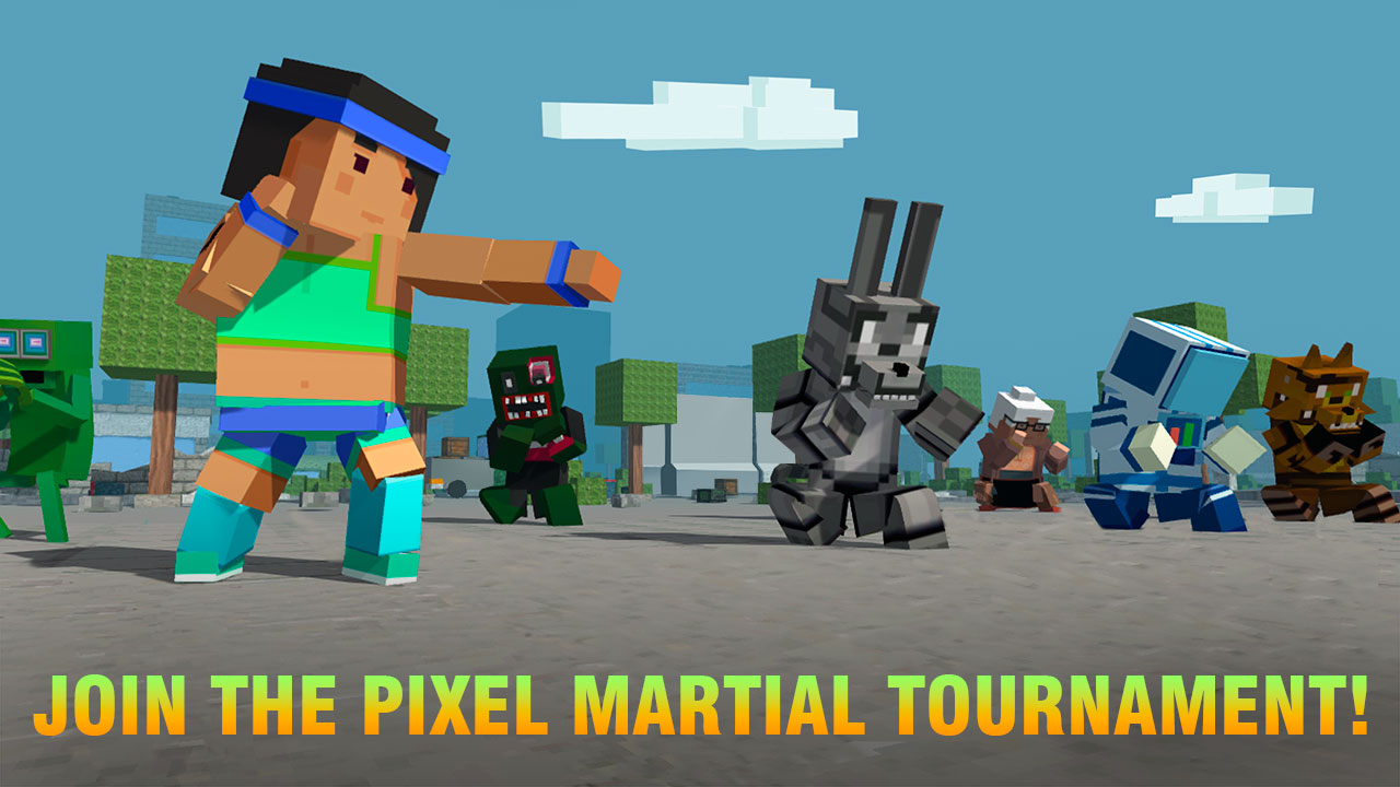 Cube Ninja Kung Fu Fighting: Pixel Fighting | Blocky Wars ...